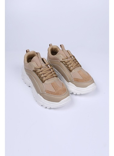 Female Project Bej Hakiki Deri Sneaker Bej